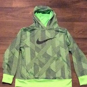 Nike Kids Green and Black Logo Hoodie